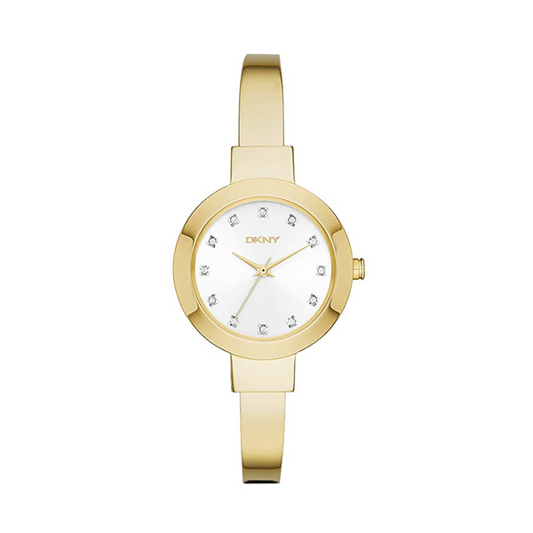 【DKNY】Ladies紐約名媛晶鑽手鐲腕錶-耀眼金/NY2437/台灣總代理公司貨享二年保固