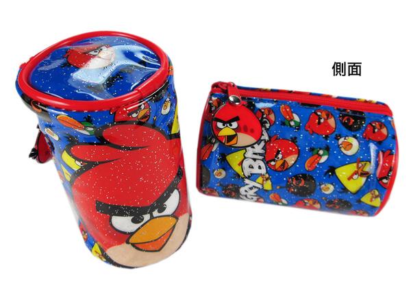 【卡漫城】 閃亮 零錢包 憤怒鳥 ㊣版 Angry Birds 紅鳥 拉鍊 小物包 萬用包 防水塑膠布 ~ 120 元
