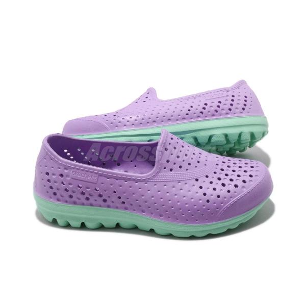 Skechers 休閒鞋 H2go-Waterlillys 紫 綠 中童鞋 大童鞋 女鞋 水鞋 套入式 懶人鞋【ACS】 86622LLVMT