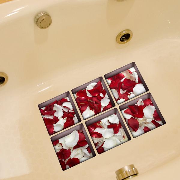 3D創意浴缸貼畫防水墻貼地貼防滑地板貼浴室洗手間防水裝飾貼畫jy 免運滿478元立享88折