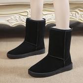 雪靴 雪地靴女學生百搭秋冬季防水韓版中筒女靴保暖棉鞋子加絨加厚短靴   魔法鞋櫃