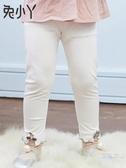 女童打底褲夏薄款夏季裝夏季裝2019新品幼兒寶寶外穿小童白色兒童褲子