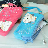 手機袋~雅瑪小舖日系貓咪包 啵啵貓煙火節雙層手機袋/拼布包包
