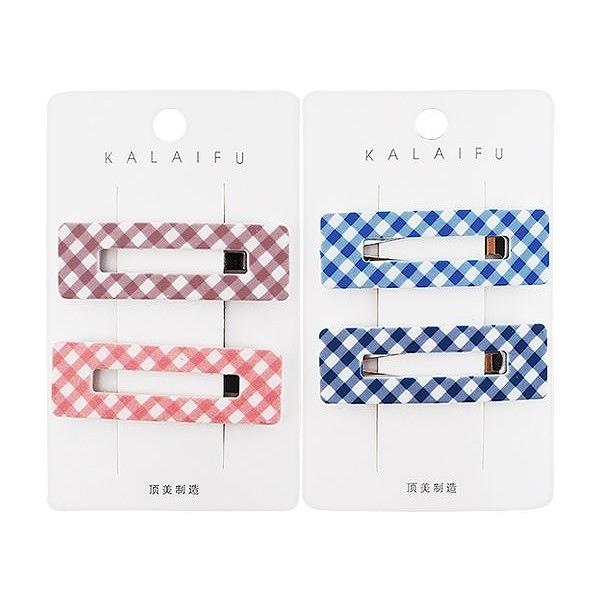 Dadaisun KALAIFU格紋BB夾方形(2入) 款式可選【小三美日】
