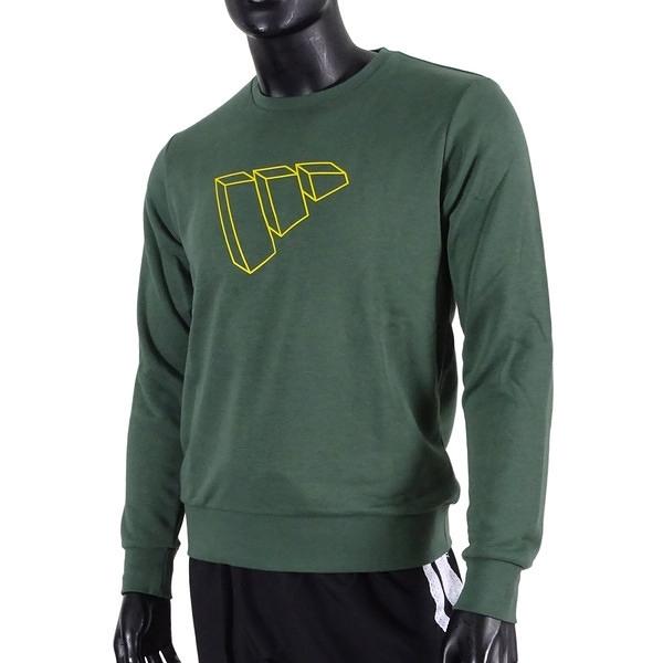Adidas Mh Swt Ft Bos [GP1003] 男 長袖 柔軟 舒適 寬鬆 森林綠