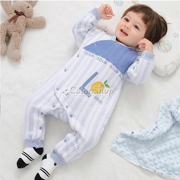嬰兒連體衣秋冬保暖夾棉加厚哈衣爬服寶寶秋裝冬裝睡衣新生兒衣服 新年禮物