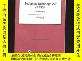 二手書博民逛書店securities罕見exchange act of 1934