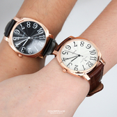 范倫鐵諾˙古柏 數字玫金皮革手錶【NEV61】原廠公司貨