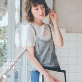 MUMU【T90121】浪漫柔滑蕾絲小背心。兩色