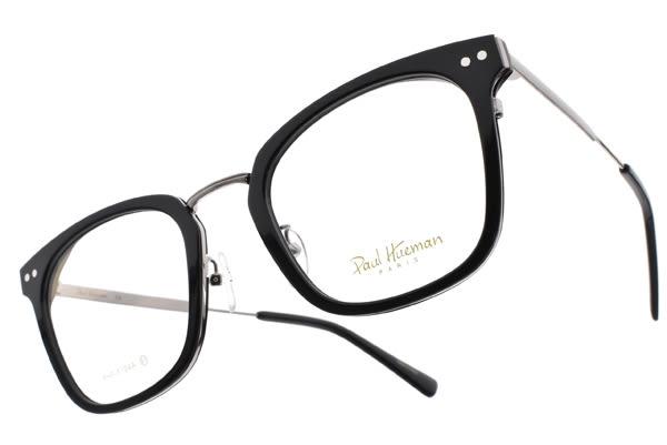 PAUL HUEMAN 光學眼鏡 PHF5104A C5-1 (黑-銀) 時尚百搭款 韓國眼鏡 # 金橘眼鏡