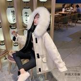 工裝羽絨棉衣棉襖冬季外套韓版寬松棉服女中長款【時尚大衣櫥】