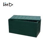 【 岩谷Iwatani 】Grid 格子磚可堆疊摺疊收納椅38 5L 綠
