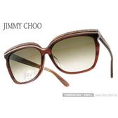 JIMMY CHOO 太陽眼鏡 JCSOPHIAFS DDKHA (咖啡棕) 奢華時尚晶鑽貓眼女款 墨鏡 # 金橘眼鏡