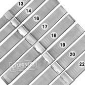 Watchband / 13.14.16.17.18.19.20.22mm / 各品牌通用時尚指標輕便透亮米蘭編織不鏽鋼錶帶 銀色