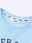 安奈兒童裝男童純棉T恤2019春夏新款圓領短袖休閒上裝EB821212