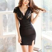連衣裙 新款夜店女裝修身顯瘦性感包臀蕾絲女人味緊身夜場裙子【全館免運】
