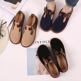 女鞋娃娃鞋圓頭娃娃鞋單鞋學院風女鞋英倫風小皮鞋 伊蒂斯 全館免運