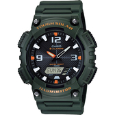 CASIO 卡西歐 太陽能電力手錶-墨綠 AQ-S810W-3A / AQ-S810W-3AVDF