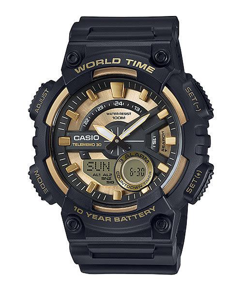 【CASIO宏崑時計】CASIO卡西歐運動雙顯電子錶 AEQ-110BW-9A 100米防水 52.2mm 台灣卡西歐保固一年