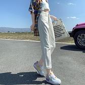 牛仔褲女 褲子女夏季薄款高腰春夏米白色牛仔褲直筒寬鬆夏天女裝2021年新款【八折搶購】