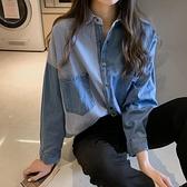 牛仔襯衫 2021秋冬季加厚牛仔襯衫女復古港味長袖上衣寬鬆百搭襯衣外套 韓國時尚週