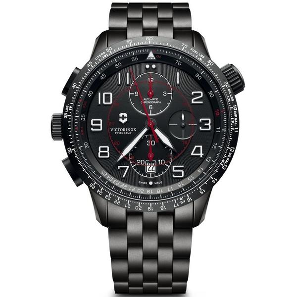VICTORINOX SWISS ARMY瑞士維氏Airboss Mach 9 Black Edition腕錶   VISA-241742