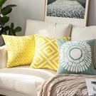 熱賣抱枕 北歐刺繡抱枕沙發靠墊客廳椅子靠背枕靠枕辦公室護腰抱枕套LX coco