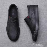 2020新款男鞋夏季透氣潮鞋懶人一腳蹬皮鞋男士休閒鞋韓版潮流百搭 電購3C
