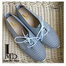 女鞋灰色休閒鞋 洞洞雷射面 運動鞋底 輕...