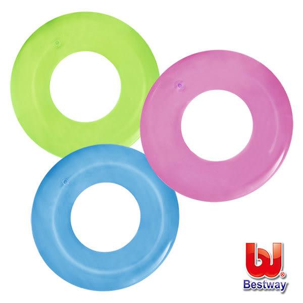 《Bestway》甜甜果凍系/透明充氣兒童泳圈(69-03256)-顏色隨機出貨