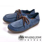 【WALKING ZONE】可踩式雙穿休閒女鞋-藍(另有紅、棕)
