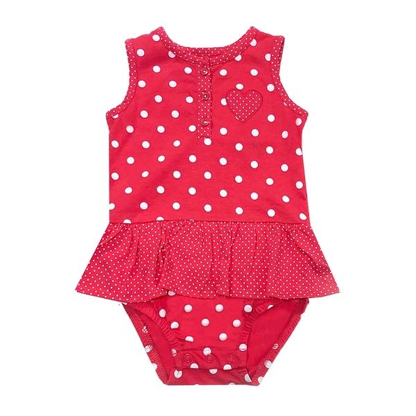 女寶寶無袖兔裝 背心裙擺連身衣 紅點點   Carter s卡特童裝 (嬰幼兒/兒童/小孩)