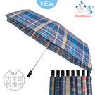 【雨之情】大傘面防潑水格子紳士自動傘-8色-正好開/大傘面/防潑水/抗風