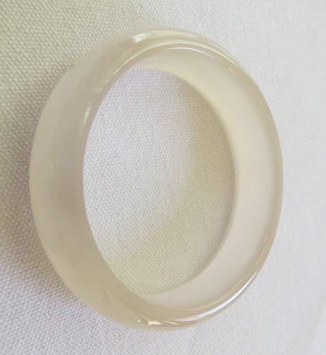 天然白玉髓手鐲#0429 60mm
