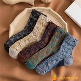 復古花邊堆堆襪女秋冬純棉中筒襪日系jk蕾絲長筒襪【小橘子】