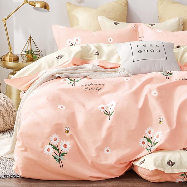 床包被套組 / 雙人加大【花絮語】含兩件枕套  100%精梳純棉  戀家小舖台灣製