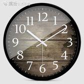 歐式創意木大號靜音掛鐘現代時尚客廳個性臥室石英時鐘表 「繽紛創意家居」