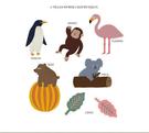 ins彩旗拉花兒童生日裝扮熱帶雨林可愛動物節慶派對聚會裝飾品
