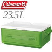 【Coleman 美國 23.5L 置物型冰桶 綠】行動冰箱/保冷冰箱/拉桿式行動冰箱CM-1327JM000★滿額送