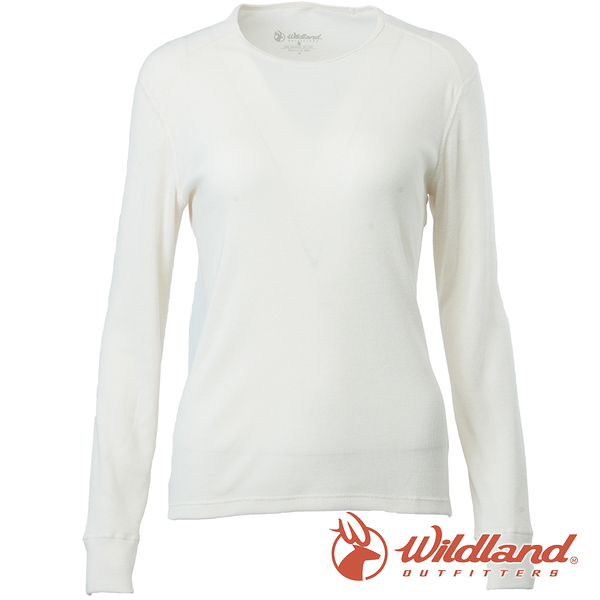 【wildland 荒野】女 Highest彈性圓領保暖衣『米白』H2663 戶外 休閒 運動 冬季 保暖 禦寒 內著