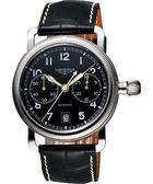 LONGINES Heritage 經典復古飛航計時機械腕錶-黑/41mm L27834532