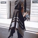 披肩圍巾兩用女秋冬季韓版百搭加厚保暖空調披肩旅游斗篷披風冬天 LOLITA
