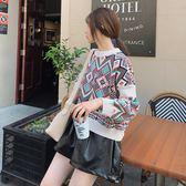 VK精品服飾 復古民族風提花燈籠袖短款長袖上衣