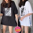 BOBO小中大尺碼【2065】寬版復古女孩照片短袖衣 共2色 現貨
