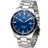 TITONI SEASCOPER系列 潮流潛水機械錶-83985SBB-518