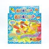 日本 Gincho 銀鳥 無毒粘土 小麥黏土4色入附模具組-壽司餐(0099)   -超級BABY