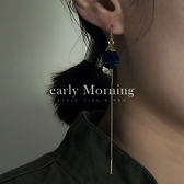 ✢韓版✢ early Morning - 仿天然石 線條垂墜DIY耳環 韓版【CR128】
