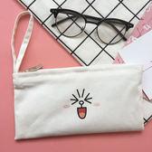 韓國原宿風布朗熊錢包女長款日韓學生印花可愛零錢包小清新手拿包