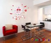壁貼【橘果設計】情侶3D DIY 創意壁貼立體掛鐘  三代壁貼 壁貼鐘  靜音時鐘
