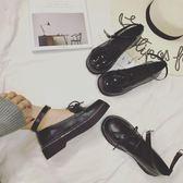 娃娃鞋日系原宿復古圓頭英倫學院風鬆糕厚底淺口單鞋學生娃娃小皮鞋女夏 萊俐亞